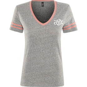 Fox Heartbreaker V-Neck SS T-Shirt Women, heather graphite